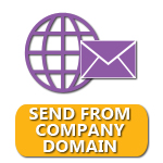 Send from your company's domain.